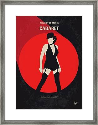 No742 My Cabaret Minimal Movie Poster Framed Print