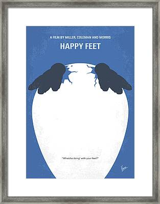 No744 My Happy Feet Minimal Movie Poster Framed Print by Chungkong Art