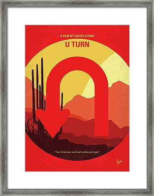 No745 My Uturn Minimal Movie Poster Framed Print