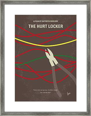 Framed Print featuring the digital art No746 My The Hurt Locker Minimal Movie Poster by Chungkong Art