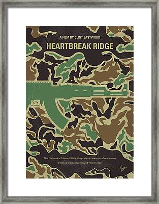 No747 My Heartbreak Ridge Minimal Movie Poster Framed Print