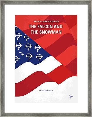 No749 My The Falcon And The Snowman Minimal Movie Poster Framed Print