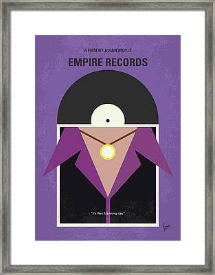 Framed Print featuring the digital art No750 My Empire Records Minimal Movie Poster by Chungkong Art