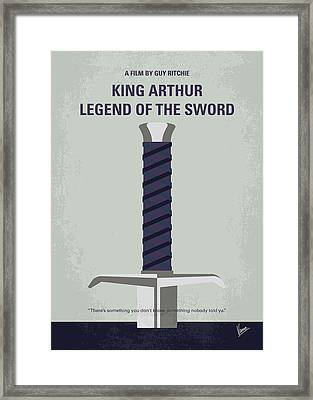 No751 My King Arthur Legend Of The Sword Minimal Movie Poster Framed Print