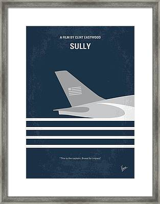 No754 My Sully Minimal Movie Poster Framed Print