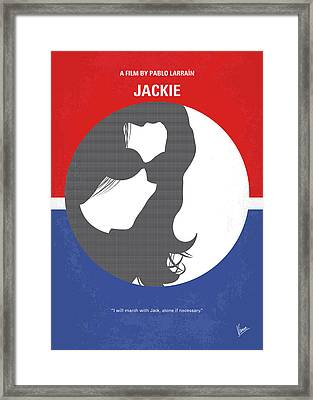 No755 My Jackie Minimal Movie Poster Framed Print