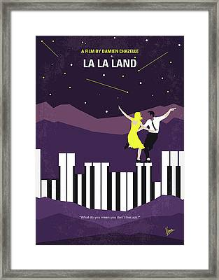 No756 My La La Land Minimal Movie Poster Framed Print