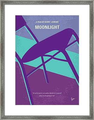 No757 My Moonlight Minimal Movie Poster Framed Print by Chungkong Art