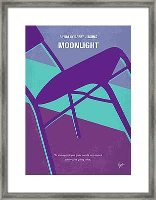 No757 My Moonlight Minimal Movie Poster Framed Print