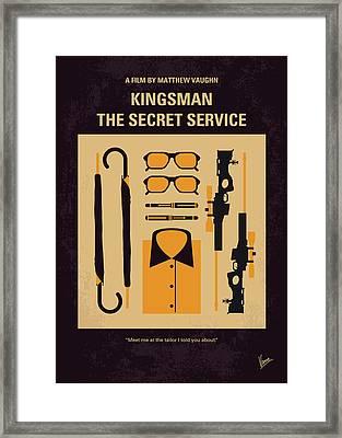 No758 My Kingsman Minimal Movie Poster Framed Print