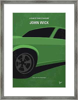 Framed Print featuring the digital art No759 My John Wick Minimal Movie Poster by Chungkong Art