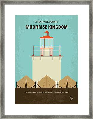 No760 My Moonrise Kingdom Minimal Movie Poster Framed Print