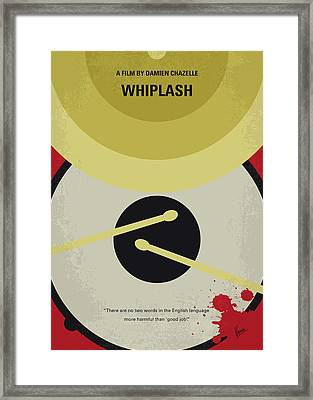 No761 My Whiplash Minimal Movie Poster Framed Print