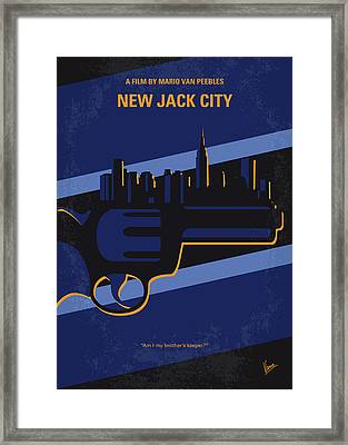 No762 My New Jack City Minimal Movie Poster Framed Print by Chungkong Art