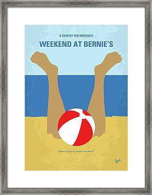 No765 My Weekend At Bernies Minimal Movie Poster Framed Print