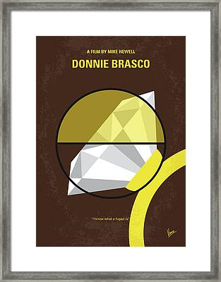 Framed Print featuring the digital art No766 My Donnie Brasco Minimal Movie Poster by Chungkong Art