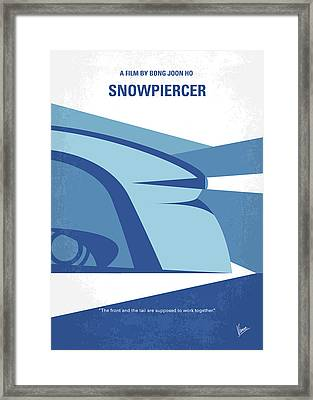 Framed Print featuring the digital art No767 My Snowpiercer Minimal Movie Poster by Chungkong Art