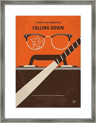 No768 My Falling Down Minimal Movie Poster Framed Print