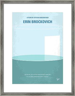 No769 My Erin Brockovich Minimal Movie Poster Framed Print