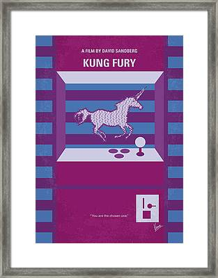 No770 My Kung Fury Minimal Movie Poster Framed Print