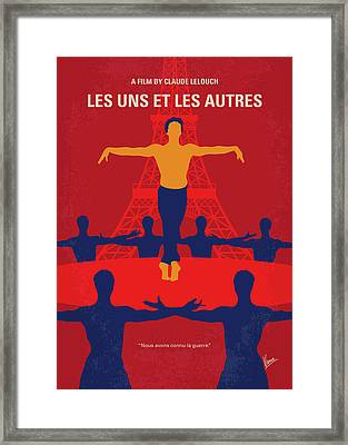 Framed Print featuring the digital art No771 My Les Uns Et Les Autres Minimal Movie Poster by Chungkong Art