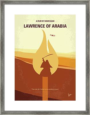 No772 My Lawrence Of Arabia Minimal Movie Poster Framed Print