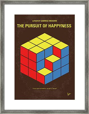 No775 My The Pursuit Of Happyness Minimal Movie Poster Framed Print