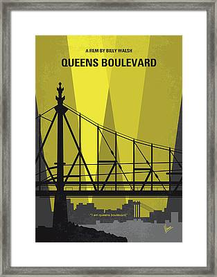 No776 My Queens Boulevard Minimal Movie Poster Framed Print