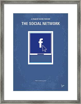 No779 My The Social Network Minimal Movie Poster Framed Print by Chungkong Art