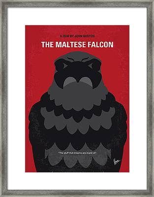 No780 My The Maltese Falcon Minimal Movie Poster Framed Print