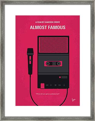 No781 My Almost Famous Minimal Movie Poster Framed Print by Chungkong Art