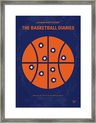 No782 My The Basketball Diaries Minimal Movie Poster Framed Print