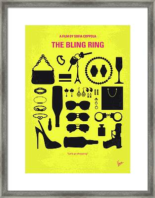 No784 My The Bling Ring Minimal Movie Poster Framed Print