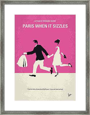 No785 My Paris When It Sizzles Minimal Movie Poster Framed Print