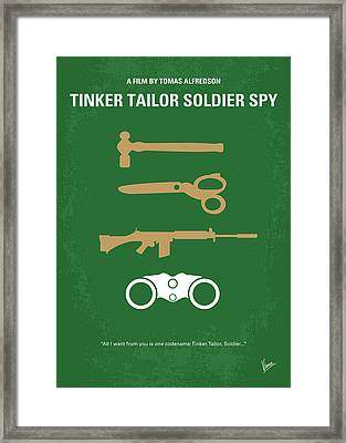 No787 My Tinker Tailor Soldier Spy Minimal Movie Poster Framed Print