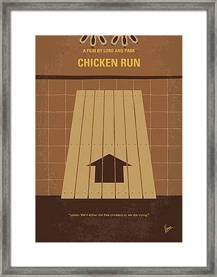 No789 My Chicken Run Minimal Movie Poster Framed Print by Chungkong Art