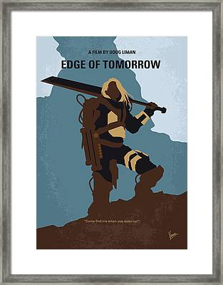 No790 My Edge Of Tomorrow Minimal Movie Poster Framed Print