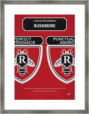 No791 My Rushmore Minimal Movie Poster Framed Print by Chungkong Art