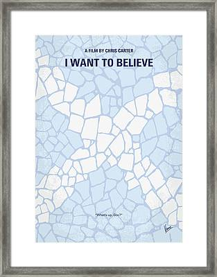 No792 My I Want To Believe Minimal Movie Poster Framed Print