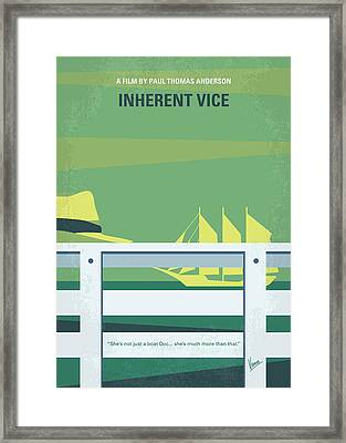 No793 My Inherent Vice Minimal Movie Poster Framed Print