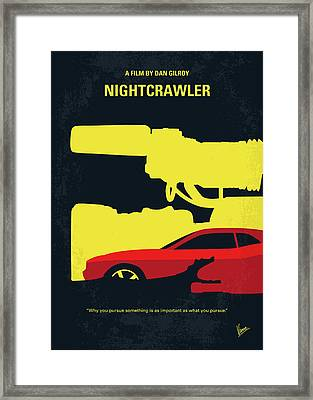 No794 My Nightcrawler Minimal Movie Poster Framed Print by Chungkong Art