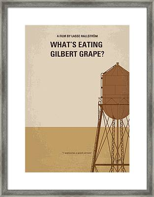 No795 My Whats Eating Gilbert Grape Minimal Movie Poster Framed Print