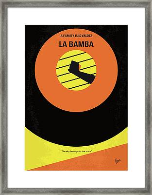 No797 My La Bamba Minimal Movie Poster Framed Print