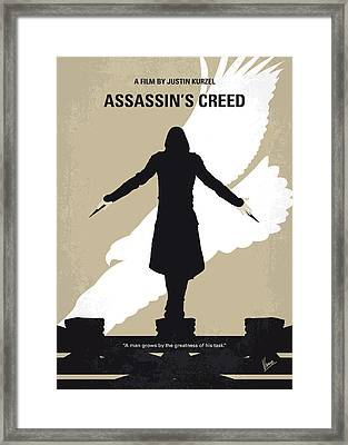No798 My Assassins Creed Minimal Movie Poster Framed Print by Chungkong Art