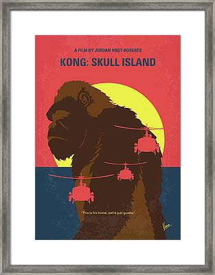 No799 My Skull Island Minimal Movie Poster Framed Print