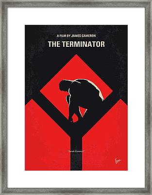 No802-1 My The Terminator 1 Minimal Movie Poster Framed Print by Chungkong Art