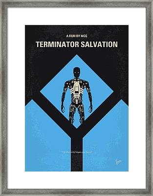 No802-4 My The Terminator 4 Minimal Movie Poster Framed Print by Chungkong Art