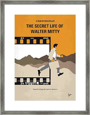 No806 My The Secret Life Of Walter Mitty Minimal Movie Poster Framed Print