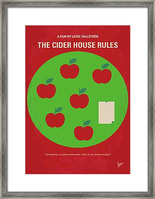 No807 My The Cider House Rules Minimal Movie Poster Framed Print by Chungkong Art