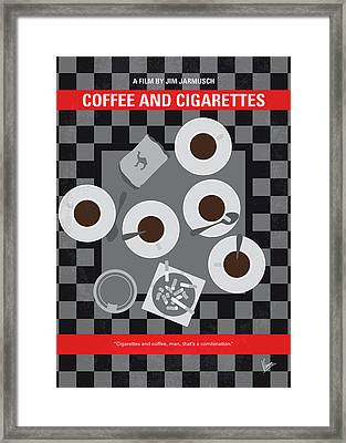 No808 My Coffee And Cigarettes Minimal Movie Poster Framed Print